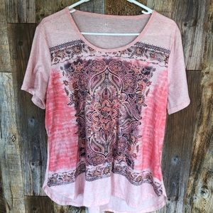 HANNAH Pink Top. Size 1X.